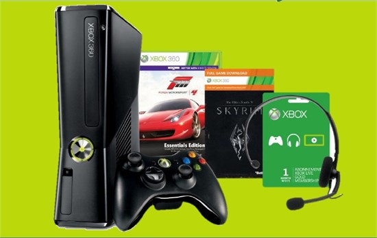 Konsole Xbox 360 250GB Holiday Value Bundle (B-Ware)