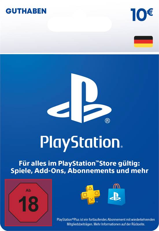PlayStation® Store Guthabenkarte DE 10 EUR [Code-DE]