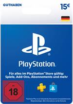 PlayStation® Store Guthabenkarte DE 15 EUR [Code-DE]