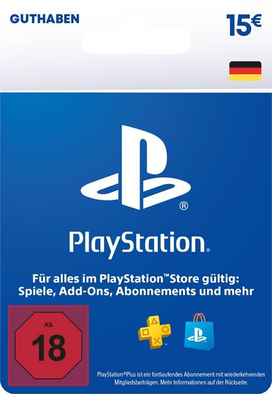 PlayStation® Store Guthabenkarte DE 15 EUR