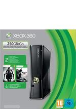 Konsole Xbox 360 250 GB incl. Batman Arkham City + Darksiders 2 (B-Ware)