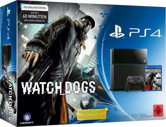 PlayStation 4 Konsole inkl. Watch Dogs
