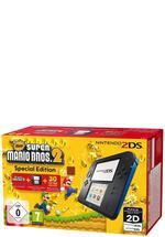 2DS Konsole schwarz + Super Mario Bros 2
