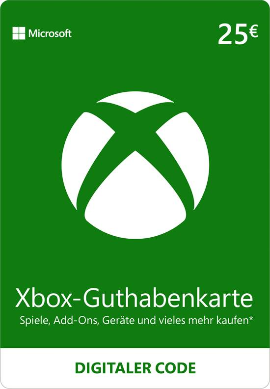 Xbox Live Guthaben 25 EUR [Code-DE]