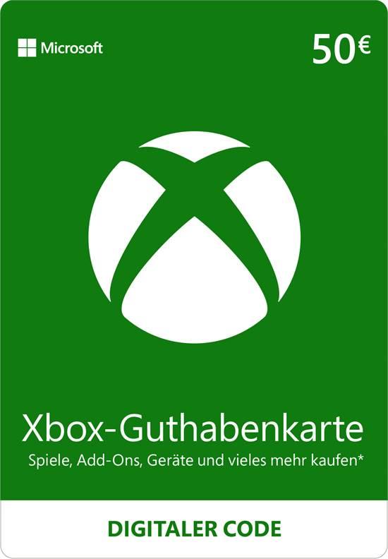 Xbox Live Guthaben 50 EUR [Code-DE]