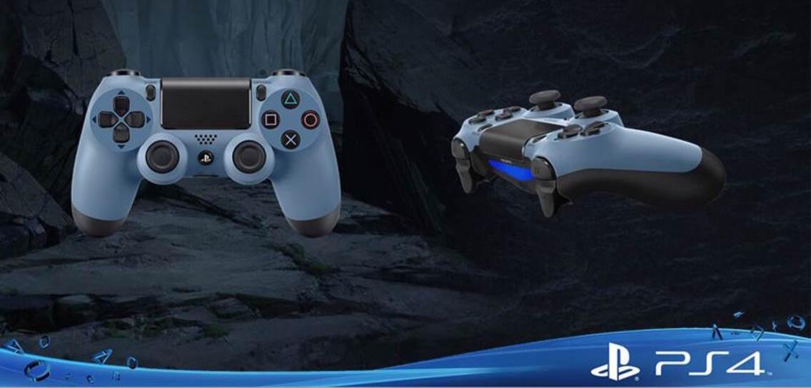 PS4 Dualshock 4 Controller blau-grau