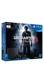 PlayStation 4 Slim 1TB + Uncharted 4 + 2ter Controller
