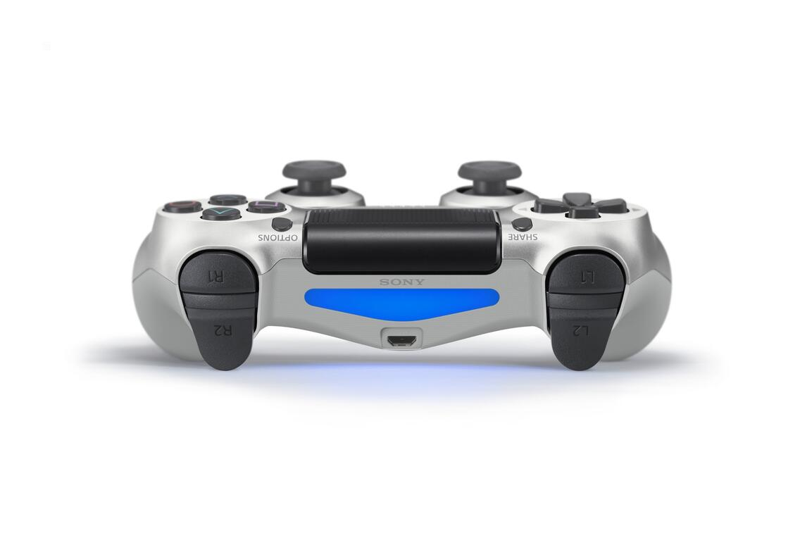 PS4 Dualshock 4 Controller (neues Modell) silber