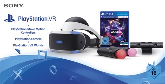 PlayStation VR + Camera + Move Twin Pack + VR Worlds
