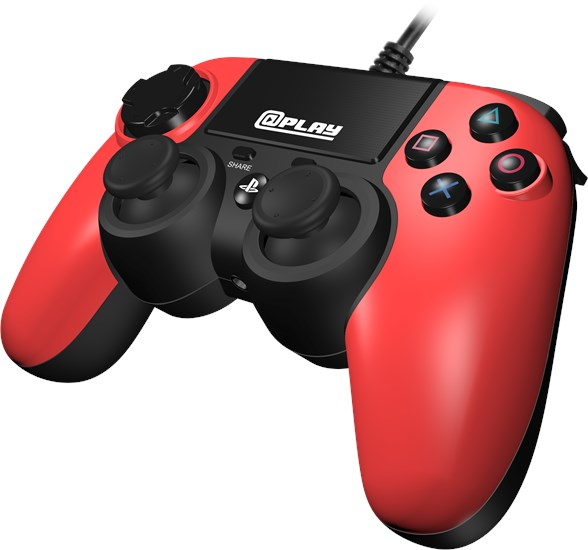 @Play PS4 Controller (kabelgebunden) rot