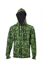 Marvel Comics - Hoodie The Hulk Comic Book Pattern (Größe S)