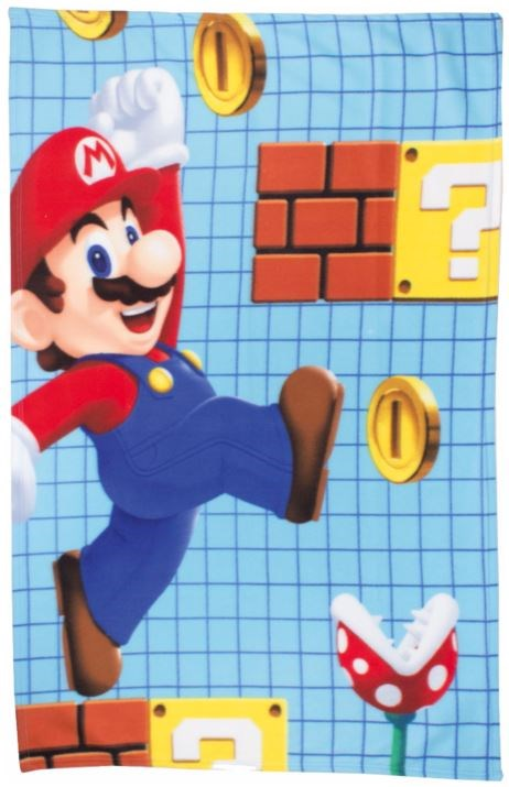 super mario fleecedecke mario maker. Black Bedroom Furniture Sets. Home Design Ideas