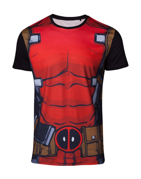 Marvel Deadpool - T-Shirt Suit (Größe S)