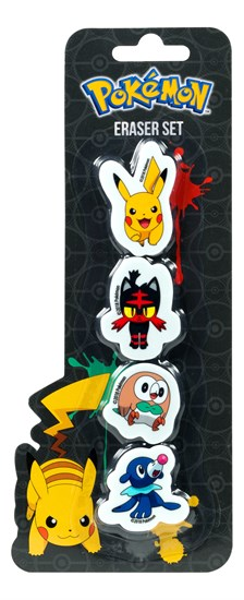 Pokémon - Radierer 4-er Pack