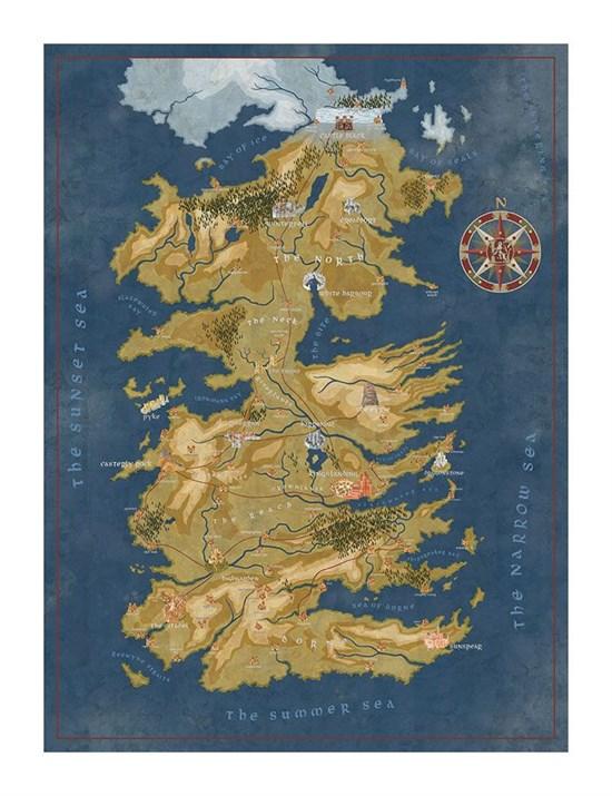 Got Karte Westeros.Game Of Thrones Puzzle Karte Von Westeros