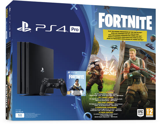 PlayStation 4 Pro 1TB Konsole + Fortnite Royal Bomber Pack