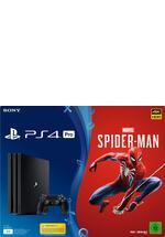 PlayStation 4 Pro Konsole 1TB schwarz inkl. Spider-Man