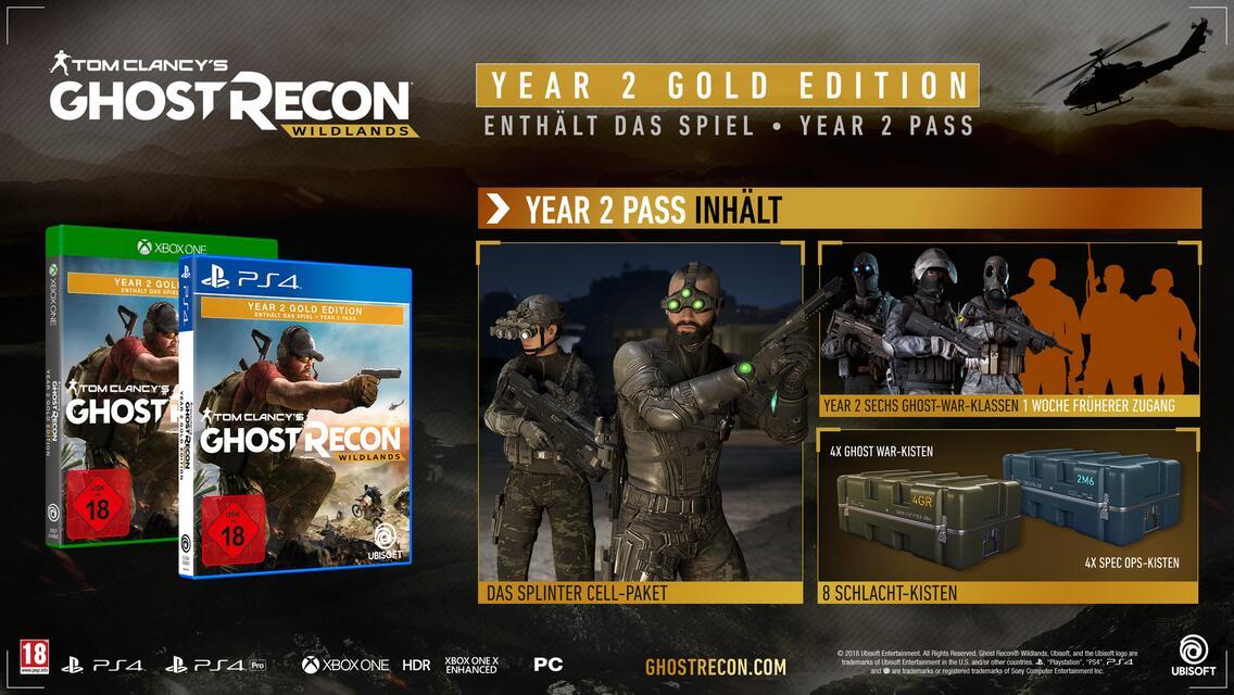 Tom Clancy's Ghost Recon Wildlands Year 2 Gold Edition