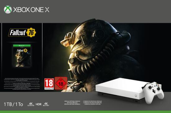 Xbox One X 1TB Konsole weiß inkl. Fallout 76