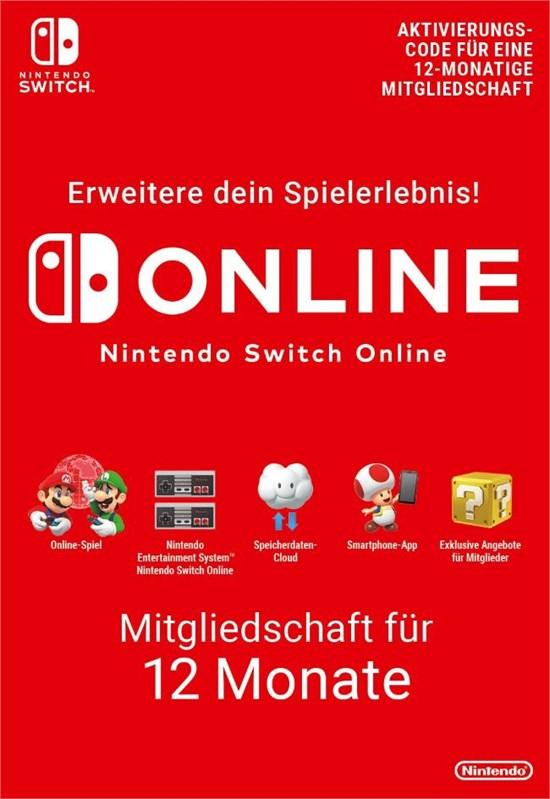 Nintendo Switch Online 12 Monate [Code-DE]