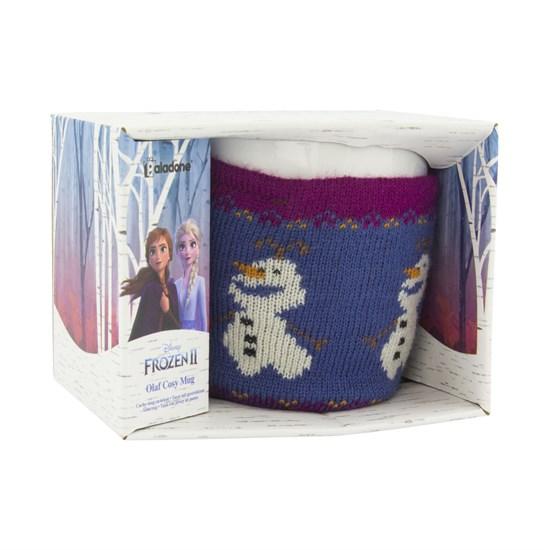 Die Eiskönigin 2 - Tasse Olaf mit Wollewärmer