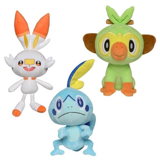 Pokémon Schwert und Schild - Plüschfigur (zufällige Auswahl)