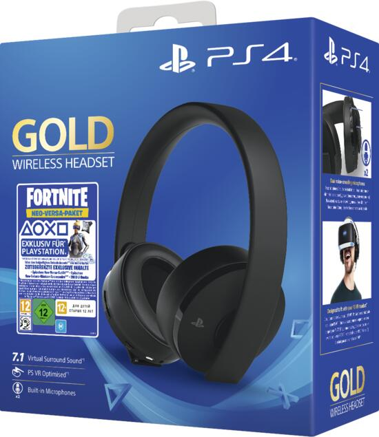 PS4 Wireless Headset Gold inkl. Fortnite Neo Versa Bundle