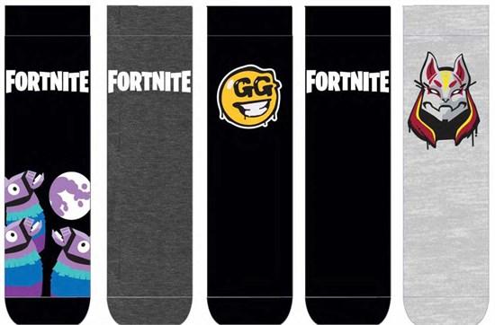 Fortnite - Socken 5er Pack Logo & Symbols (Größe 35-38)