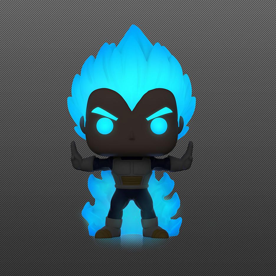 Dragon Ball Z- POP! Vinyl Figur Vegeta Powering Up - Glow in the Dark (Exklusiv bei GameStop!)