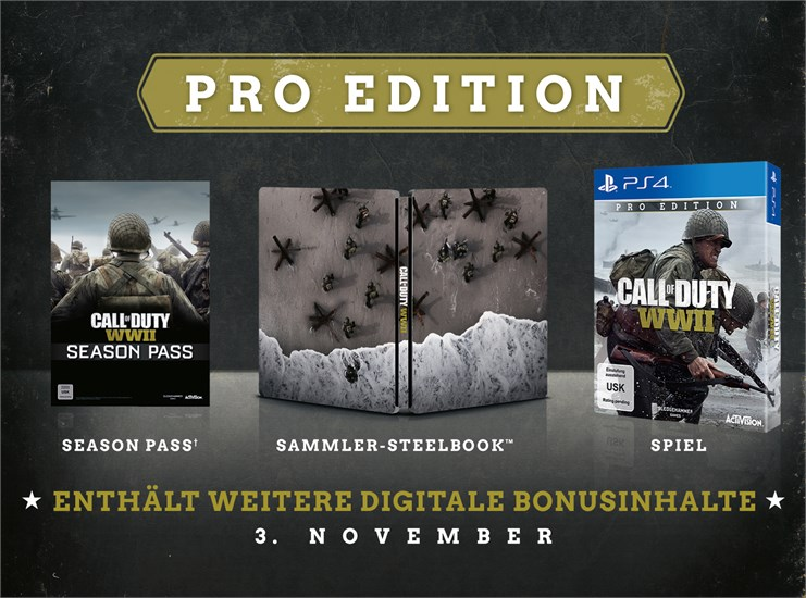 Call of Duty: WWII Pro Edition (Exklusiv bei GameStop! & Warehouse Ware)