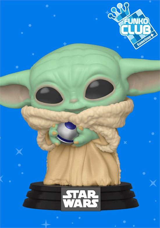 Star Wars - POP!-Vinyl Figur - Baby Yoda with Knob (Funko Club exklusiv!)