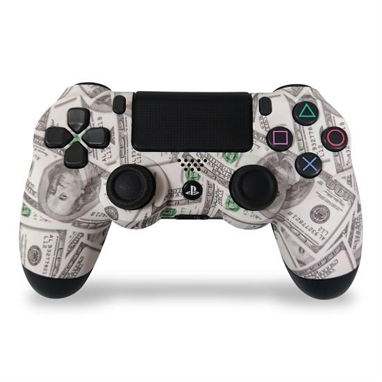 PS4 Dualshock Rebuilt Controller Money Grey (Softtouch)