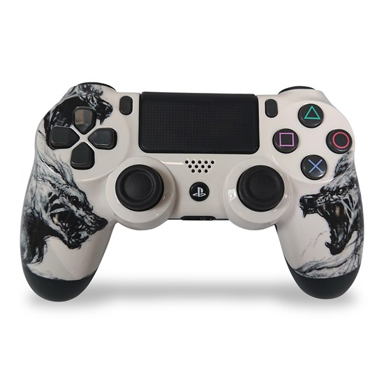 PS4 Dualshock Rebuilt Controller Wolf White (Glossy)