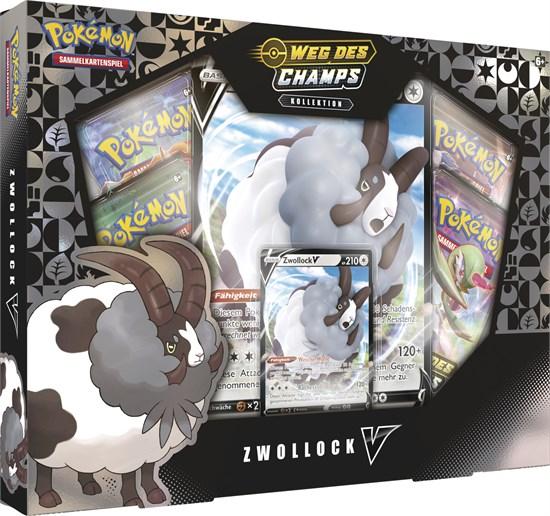 Pokémon Sammelkartenspiel: Schwert & Schild Weg des Champs Zwollock V Kollektion